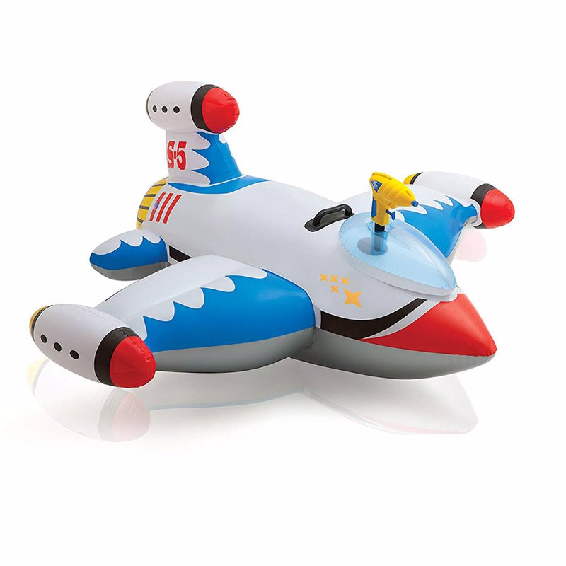 """Детский надувной плотик Intex 57539 (147х127 см) """"Космический корабль"""" Water Gun Spaceship Ride-On (Белый)"""