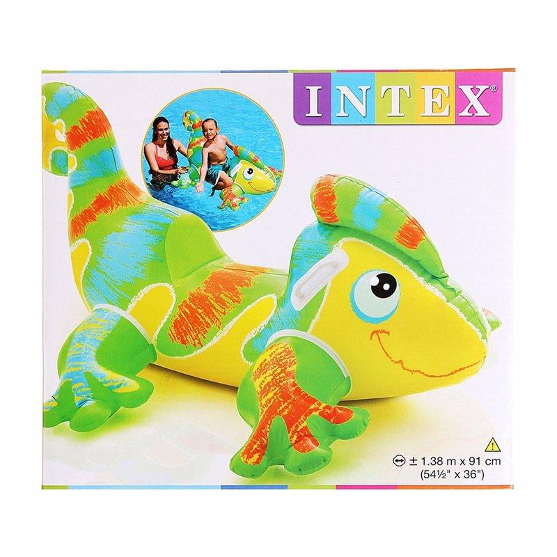 """Детский надувной плотик Intex 56569 """"Гекон"""" (138х91 см) Smiling Gecko Ride-On"""