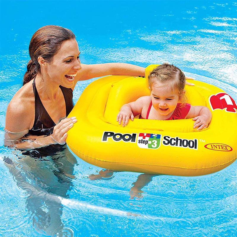 Детский надувной круг-плотик Intex 56587 Deluxe Baby Float Pool School Step 1 (79х79 см)