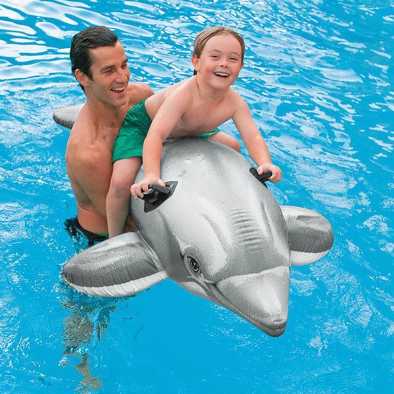"""Детский надувной плотик Intex 58539 """"Дельфин"""" (201х76 см) Dolphin Ride-On"""