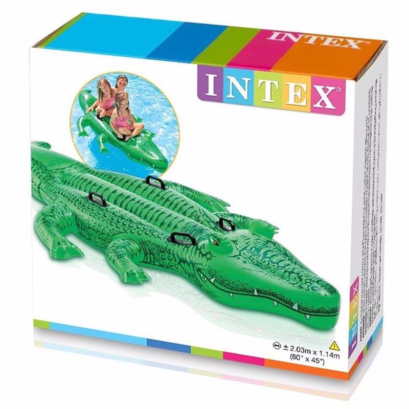 """Детский надувной плотик Intex 58562 """"Крокодил"""" (203х114 см) Giant Gator Ride-On"""