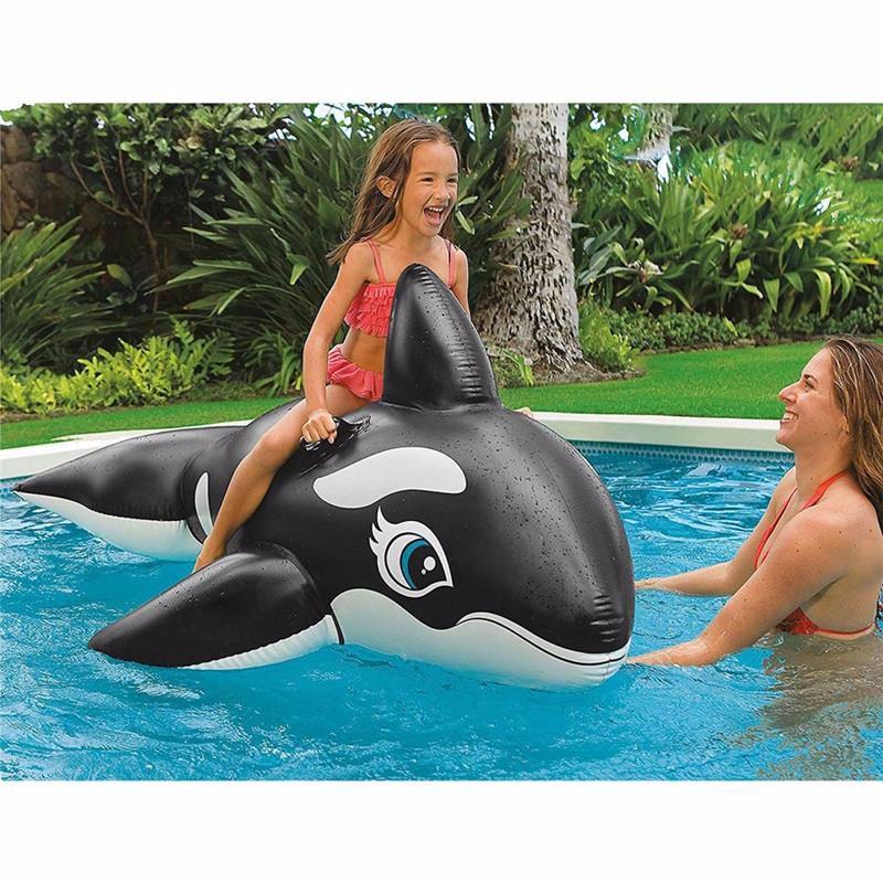 "Детский надувной плотик Intex 58561 ""Касатка"" (193х119 см) Whale Ride-On"