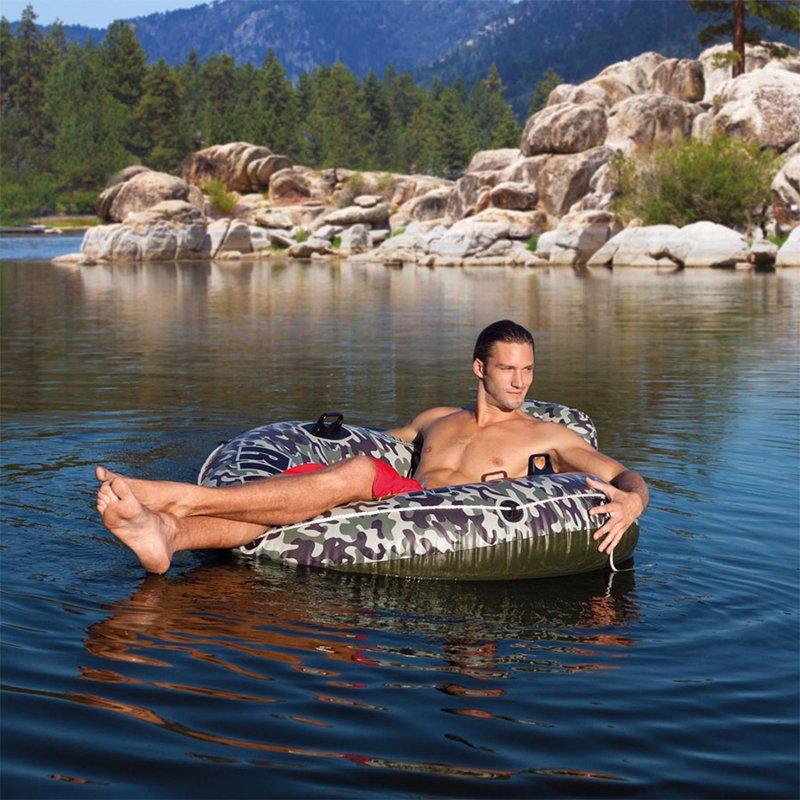 Пляжное надувное кресло Intex 58835 Camo River Run 1 (135 см)