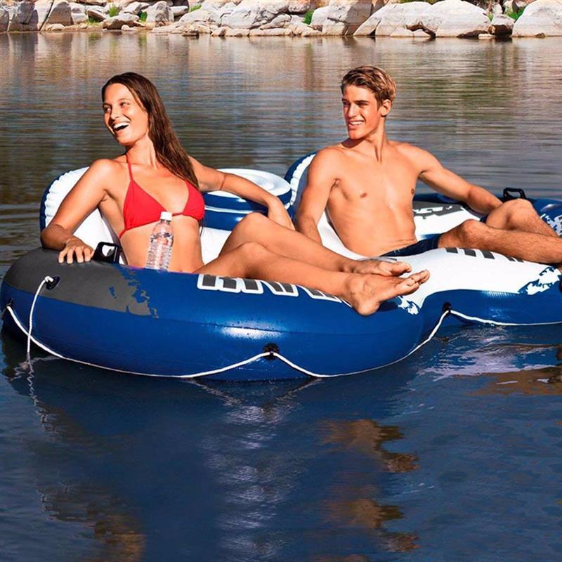 Пляжное двойное надувное кресло Intex 58837 River Run 2 (243х157 см)