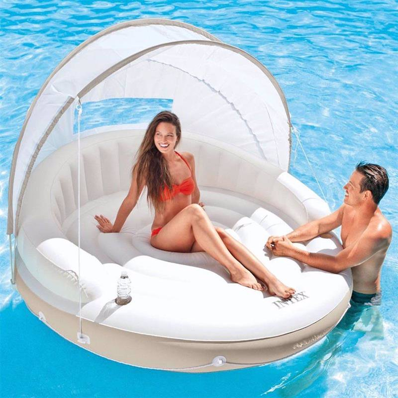 Пляжный надувной диван Intex 58292 Canopy Island (199х150 см)