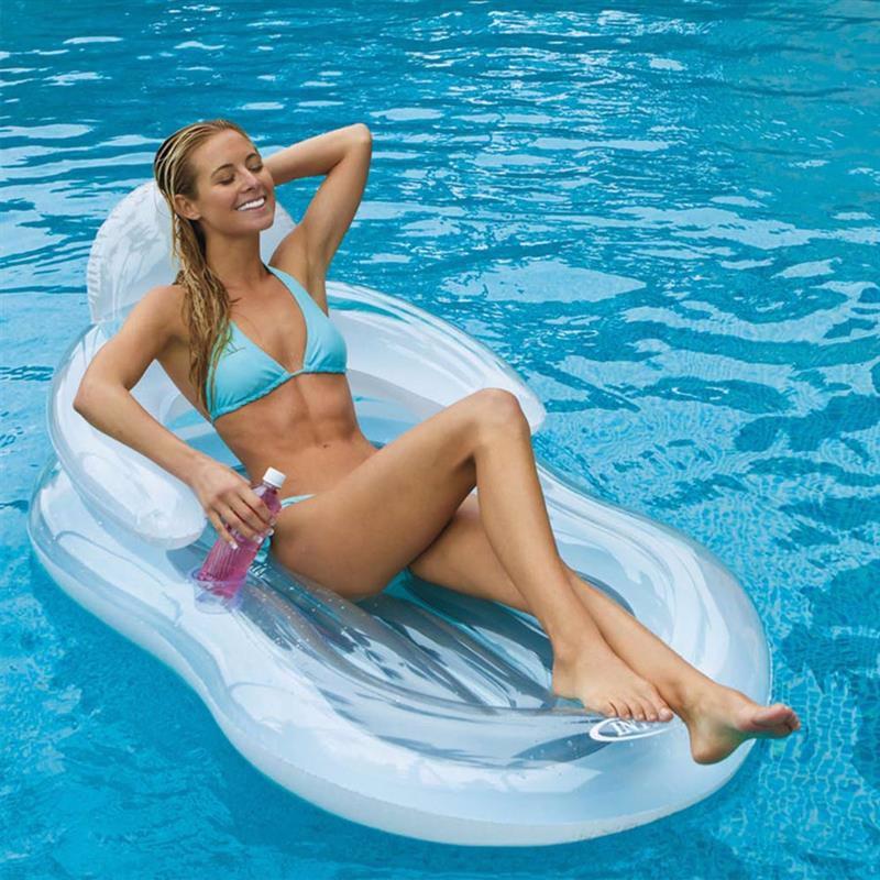 Пляжное надувное кресло Intex 58857 Floating Comfort Lounge (155х97 см)