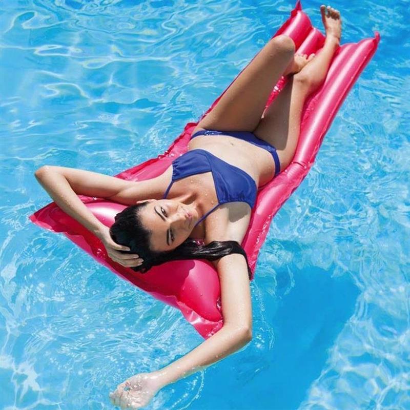 Пляжный надувной матрас для плавания Intex 59703 (Малиновый) Economats (183х69 см)