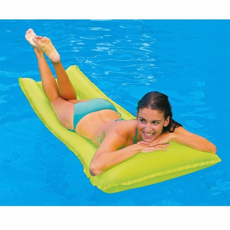 Пляжный надувной матрас для плавания Intex 59717 (Салатовый) Neon Frost Air Mats (183х76 см)