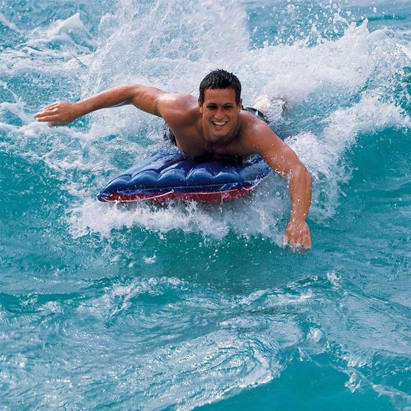Пляжный надувной матрас для плавания Intex 59196 Canvas Surf Rider (152х74 см)