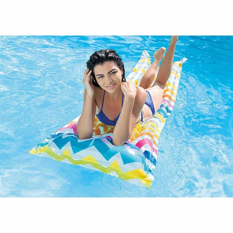 Пляжный надувной матрас для плавания Intex 59711 (С полосками) Action Print Mats (183х69 см)