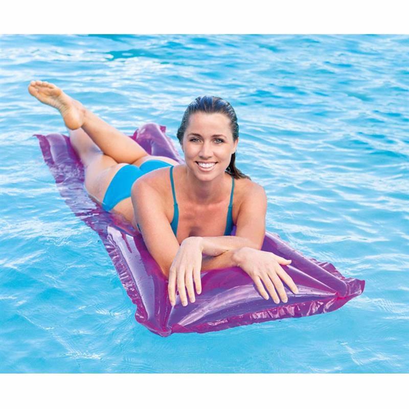 Пляжный надувной матрас для плавания Intex 59718 (Розовый) Relax-A-Mat (183х69 см)