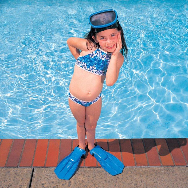Детские ласты для плавания Intex 55930 (Голубой) Small Swim Fins (р-р 35-37)