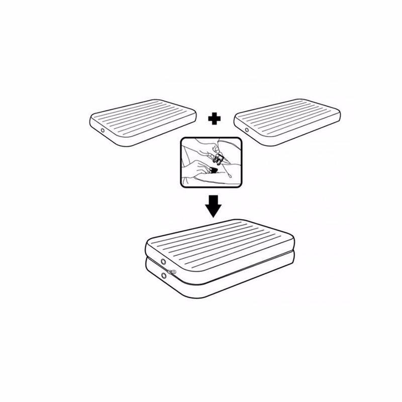 Односпальная надувная кровать Intex 67743 (99х191х46 см) 2-IN-1 Airbed