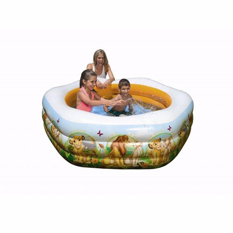 Детский надувной бассейн Intex 57497 Король Лев The Lion King Deluxe Pool (191x178x61 см)