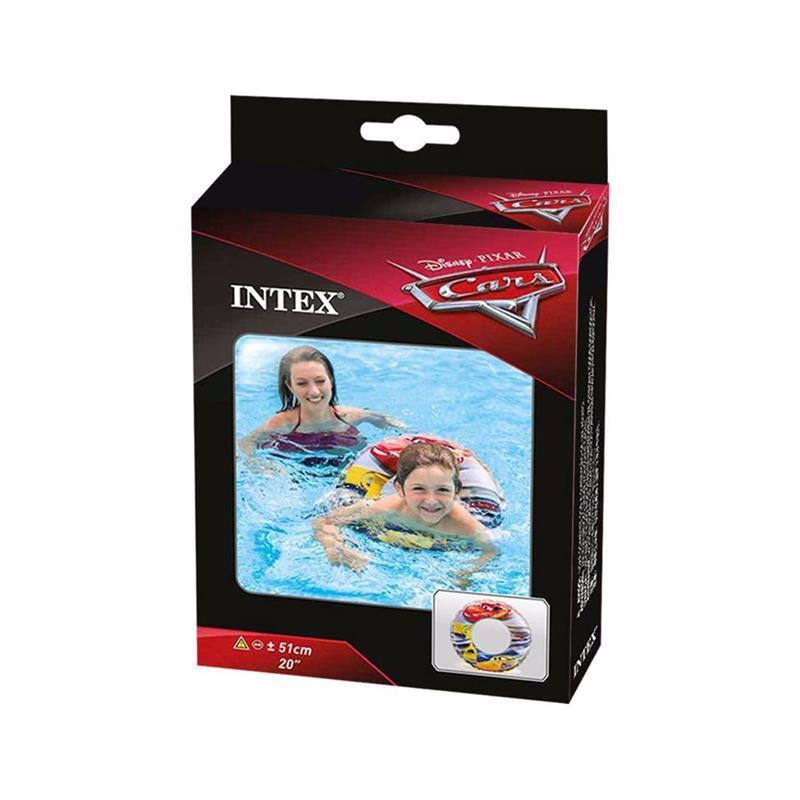 Детский надувной круг Intex 58260 Тачки Cars Swim Ring (51 см)