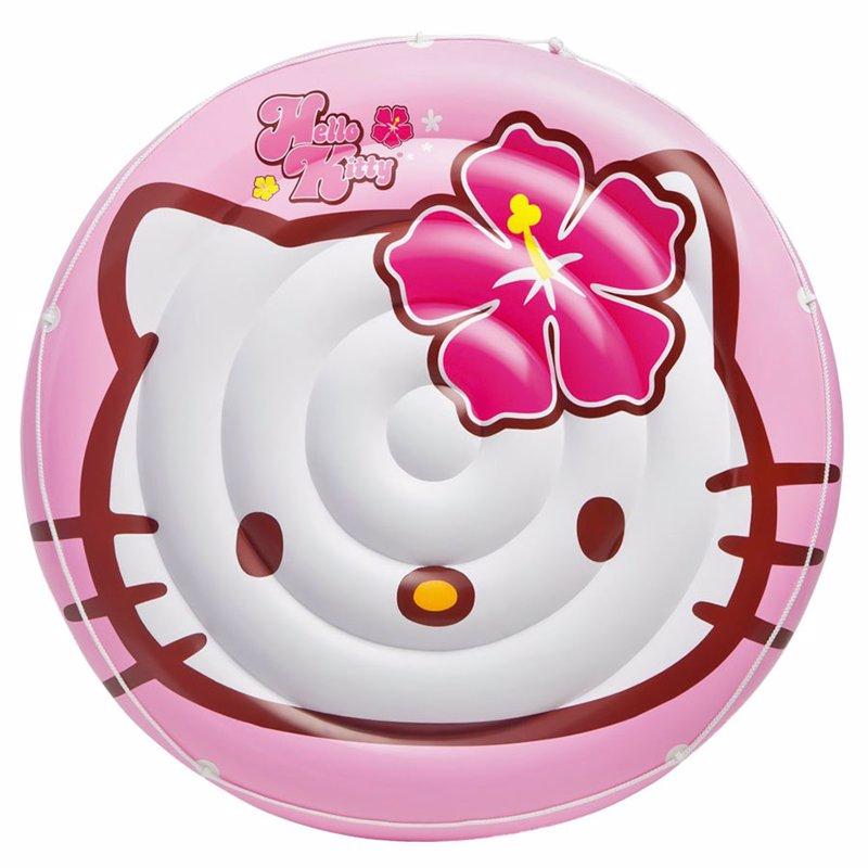 Детский надувной плотик Intex 56513 Hello Kitty (137 см) Small Island