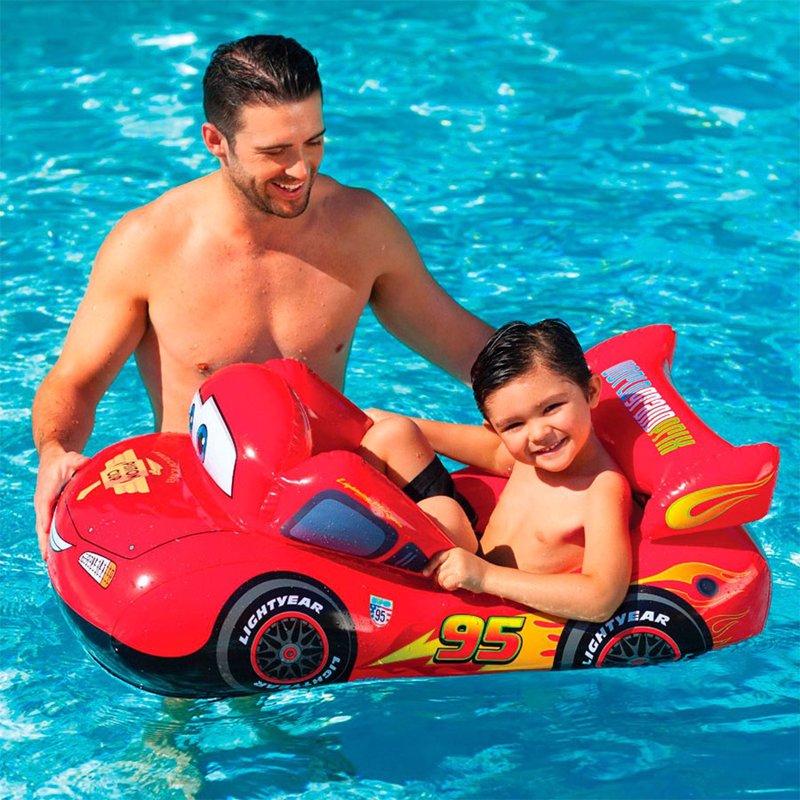 Детский надувной плотик Intex 58391 Тачки (109х66 см) Cars Pool Cruiser