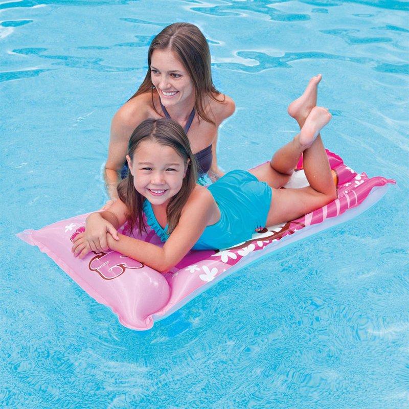 Пляжный надувной матрас для плавания Intex 58718 Hello Kitty Swim Mat (118x60 см)