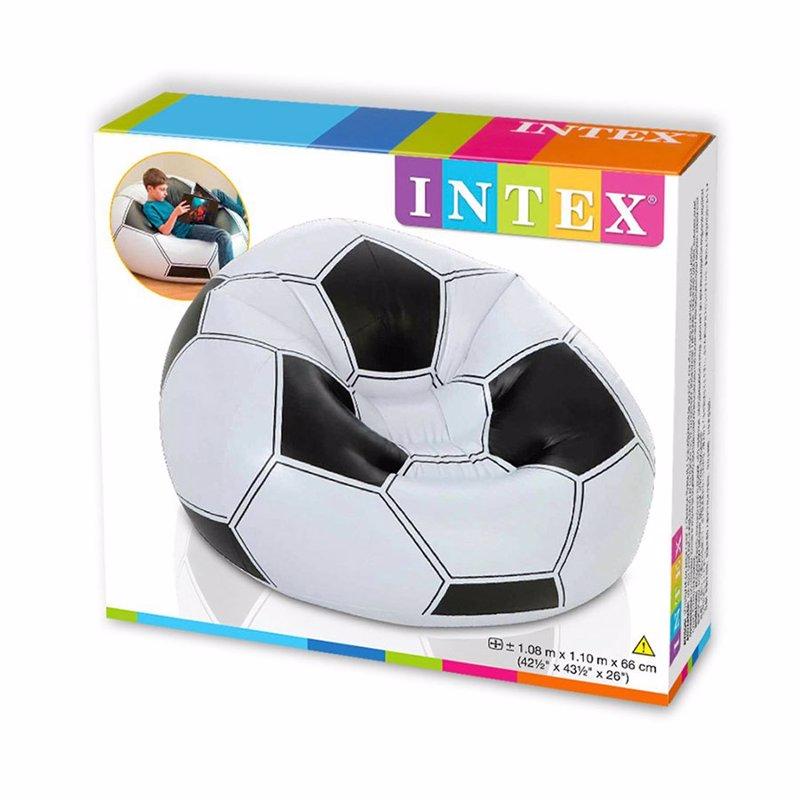 Надувное кресло Intex 68557 (108 x 110 x 66 см) Футбольный мяч