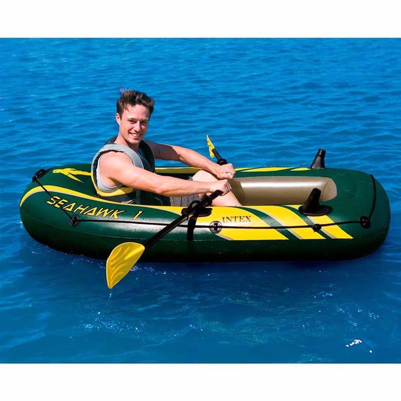 Одноместная надувная лодка Intex 68345 (193x108x38 см) SeaHawk 1