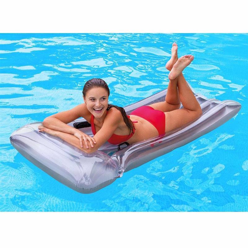 Пляжный надувной матрас для плавания Intex 59726 Deluxe Mat (188x89 см)