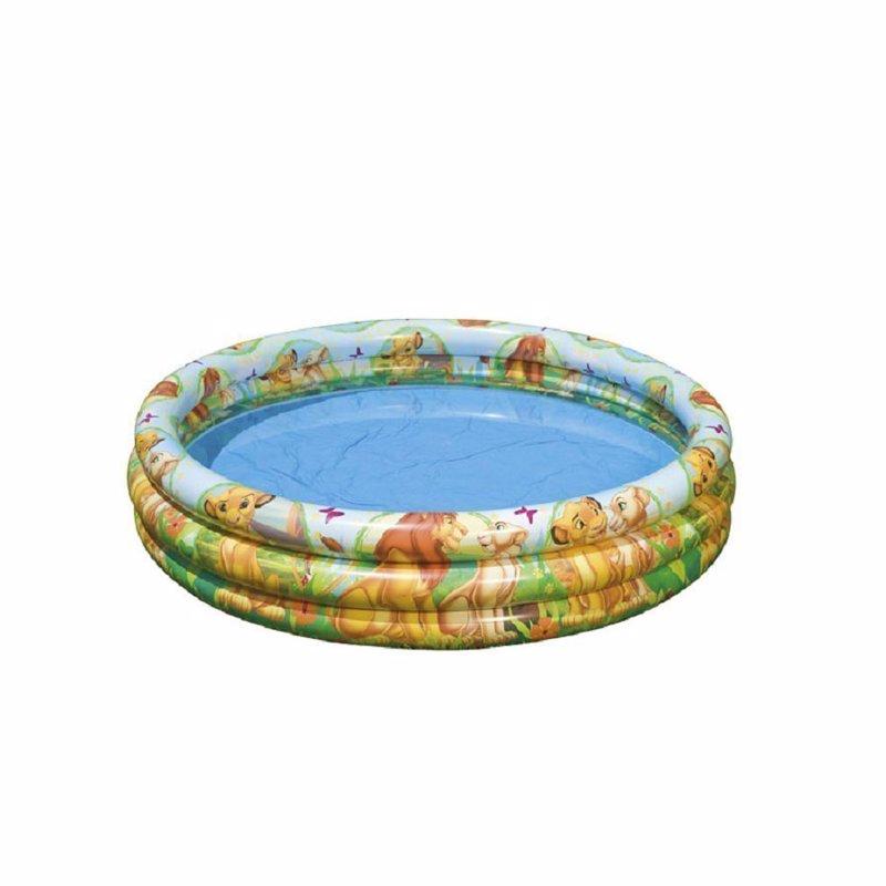 Детский надувной бассейн Intex 58420 Король Лев The Lion King 3 Ring Pool (147x33 см)