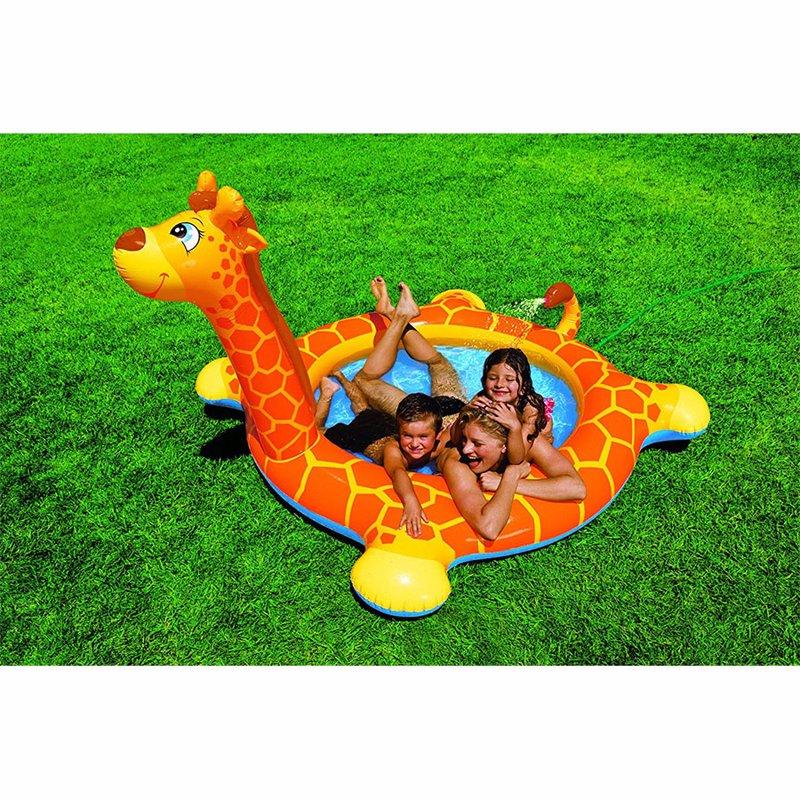 Детский надувной бассейн Intex 57434 Жираф Giraffe Spray Pool (208х165х122 см)