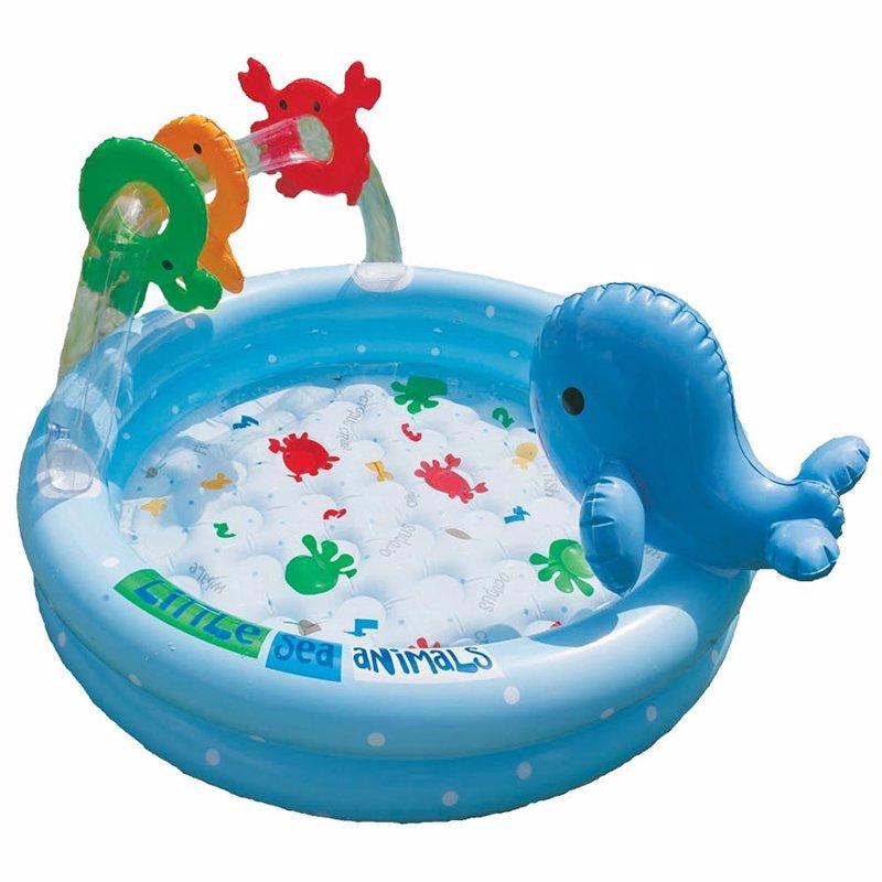 Детский надувной бассейн Intex 57400 Dolphin Baby Pool (90x53 см)