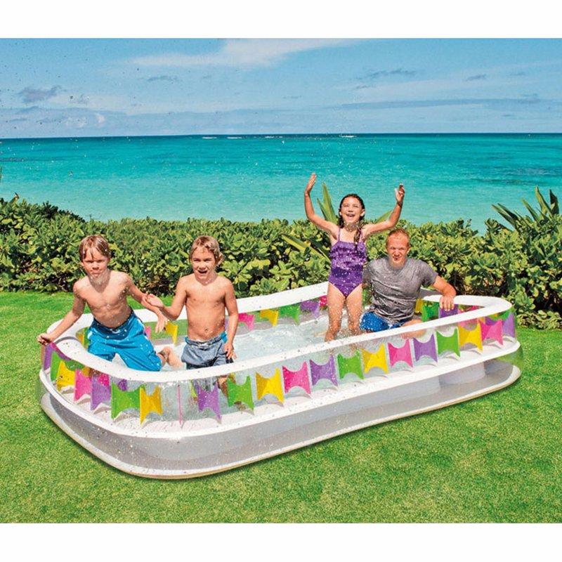 Семейный надувной бассейн Intex 57477 Swim Center Family Lounge Pool (295x175x53 см)