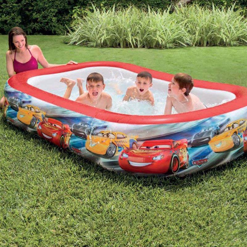 Семейный надувной бассейн Intex 57478 Тачки Cars Swim Center Pool (262x175x56 см)