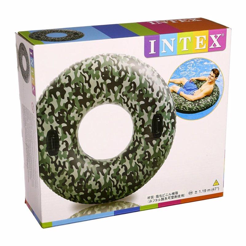 Надувной круг Intex 58265 Camo Tube (119 см)