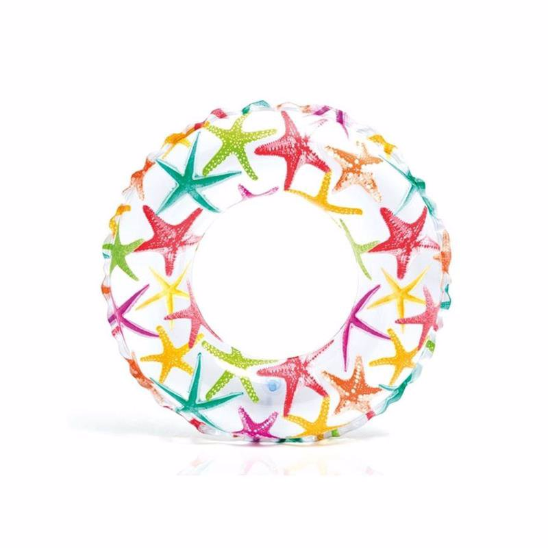 Детский надувной круг Intex 59230 (Звездочки) Lively Print Swim Rings (51 см)