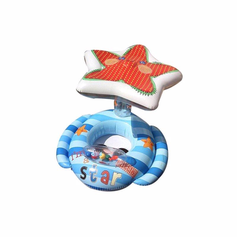 Детский надувной круг-плотик Intex 56582 Lil' Star Baby Float (119х81 см)