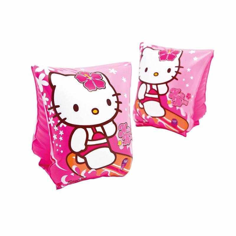 Детские надувные нарукавники Intex 56656 Hello Kitty Deluxe Arm Bands (23x15 см)
