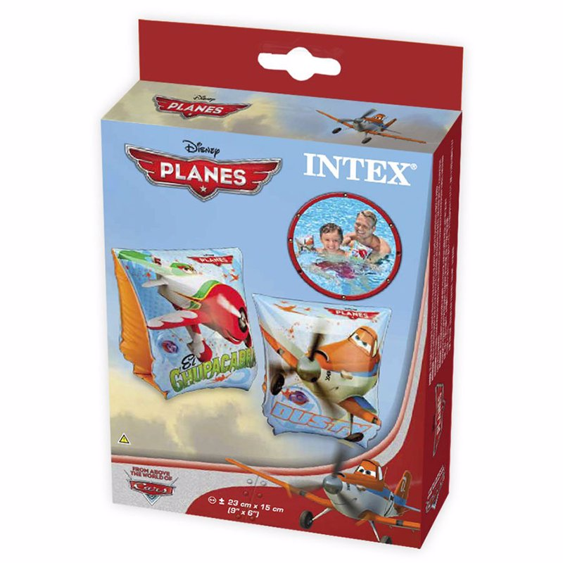 Детские надувные нарукавники Intex 56658 Литачки Planes Deluxe Arm Bands (23x15 см)