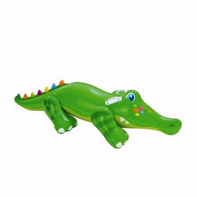 Детский надувной плотик Intex 56520 Крокодил (170x43 см) Crocodile Ride-On