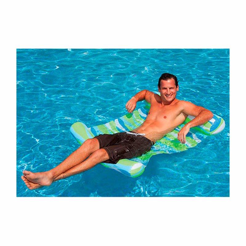 Пляжный надувной матрас-гамак для плавания Intex 58834 (Зеленый) (137x99 см)