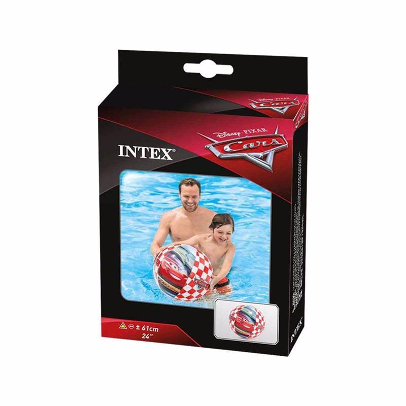 Надувной мяч Intex 58053 Тачки Cars Beach Ball (61 см)