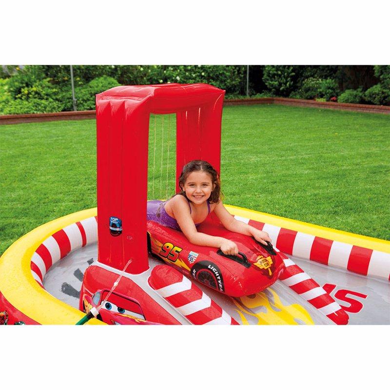 Водный надувной игровой центр Intex 57134 (348 x 198 x 121 см) Тачки