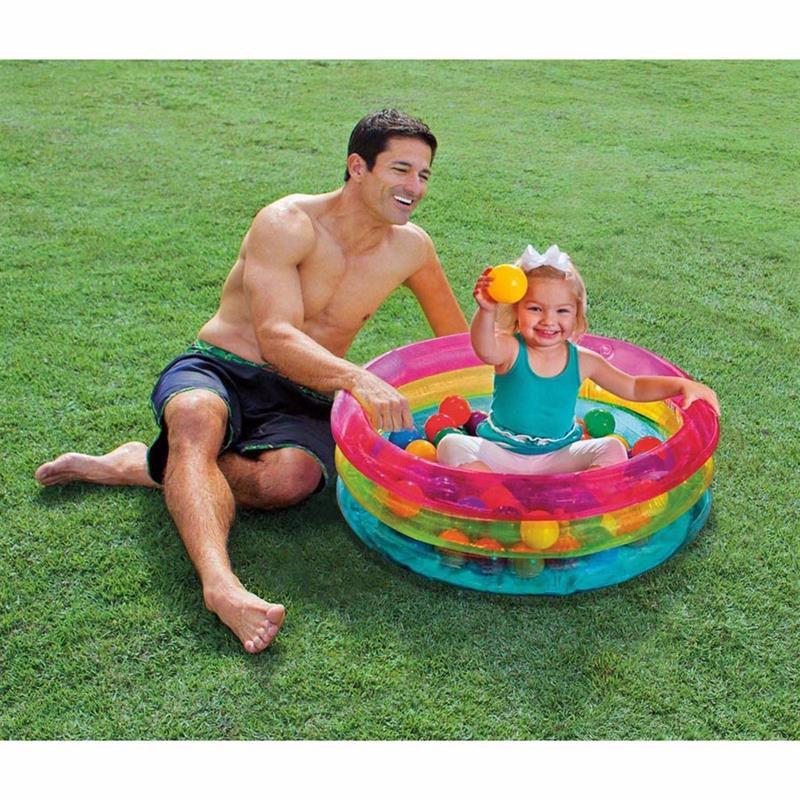 Детский надувной бассейн-манеж Intex 48674 (86 x 25 см) + Мячики (40 шт)