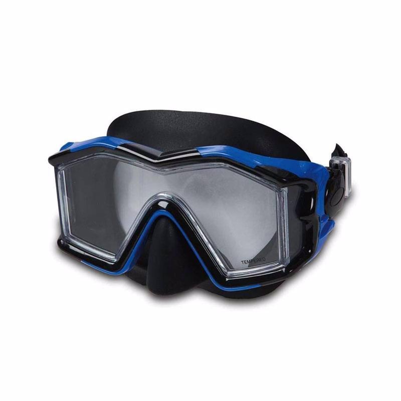 Маска для плавания Intex 55982 (Синий) Silicone Explorer Pro Masks