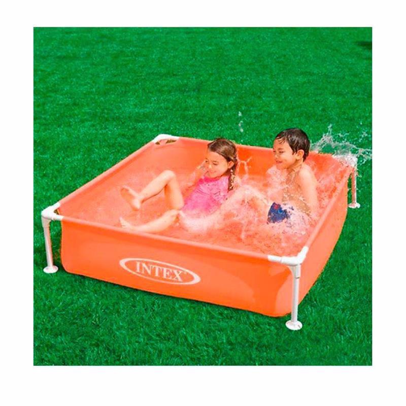 Детский каркасный бассейн Intex 57171 (Оранжевый) Mini Frame Pool (122х122х30 см)