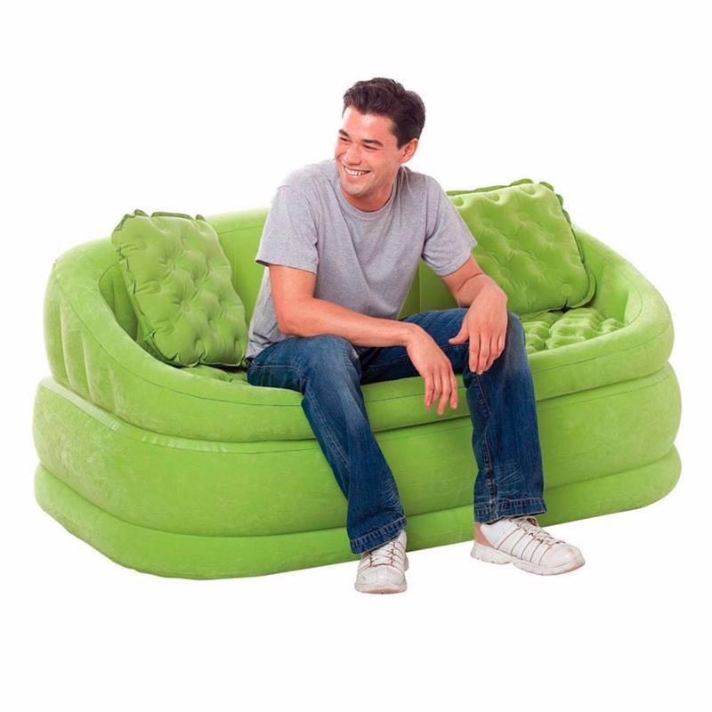 Надувной диван Intex 68573 (157 х 86 х 69 см) Салатовый