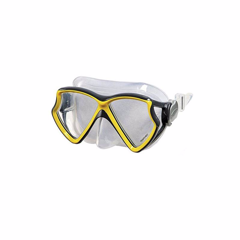 Маска для плавания Intex 55980 Silicone Aviator Pro Masks (Желтый)