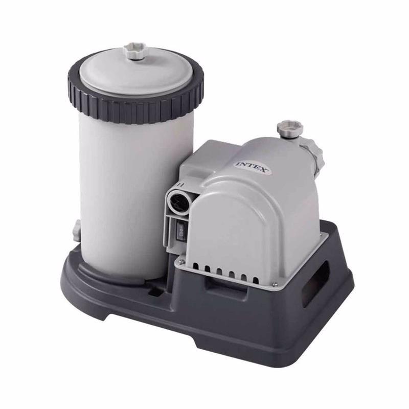 Картриджный фильтрующий насос Intex 28634 (9463 л/час) Crystal Clear Cartridge Filter Pump (для бассейнов, диаметром 732 см)