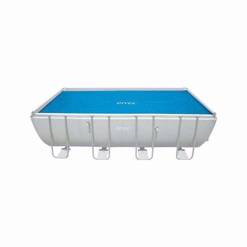 Обогревающий чехол Intex 29027 (для прямоугольных каркасных бассейнов, размером 732х366 см) Solar Pool Cover