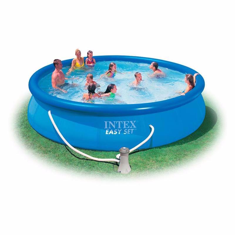 Надувной бассейн Intex 28180 Easy Set Pool (457x84 см)