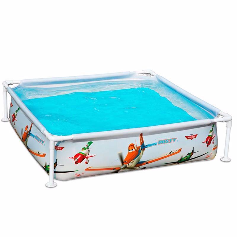 Детский каркасный бассейн Intex 57174 Литачки Planes Mini Frame Pool (122х122х30 см)