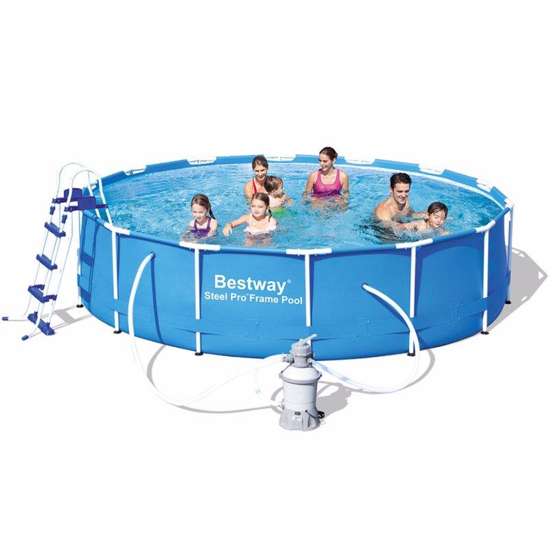 Круглый каркасный бассейн Bestway 56308 (427x100 см) Steel Pro Frame Pool