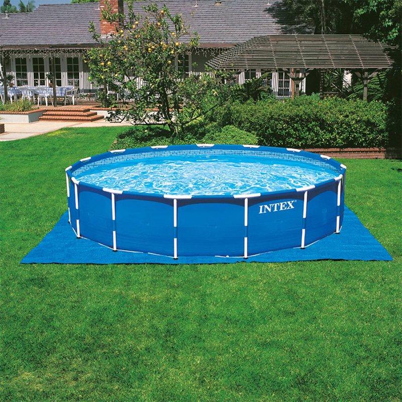 Круглый каркасный бассейн Intex 28228 (457x84 см) Metal Frame Pool